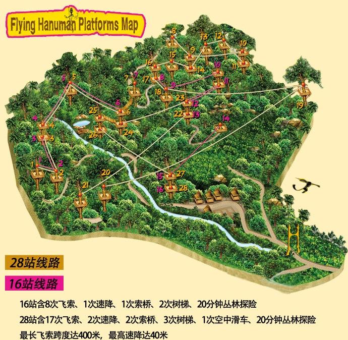 普吉岛flying hanuman丛林飞跃特价