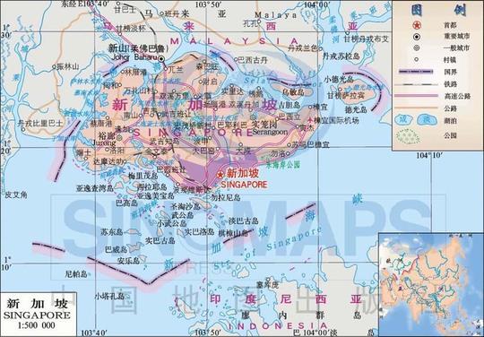 谁有新加坡中文版地图?