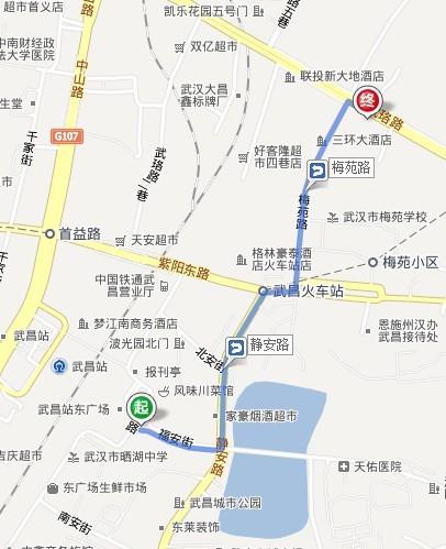 武昌火车站到武汉天河机场