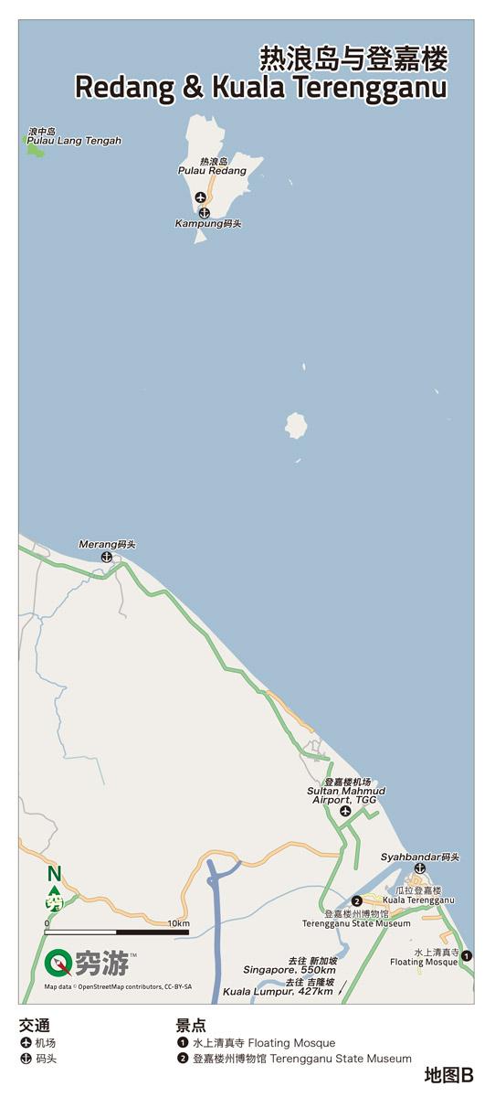 热浪岛与登嘉楼   地图b