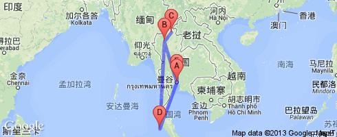 曼谷至清迈到普吉岛