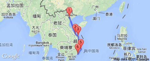 越南顺化地图中文版